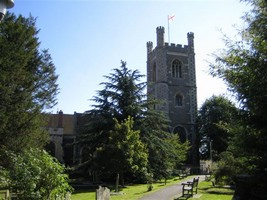 St Mary the Virgin Church at Henley-on-Thames from the alms houses