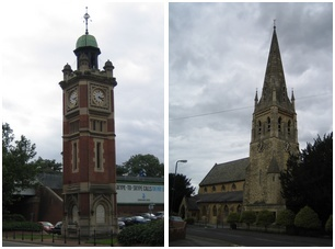 Clock Tower near Railway Station and St Lukes Parish Church, Maidenhead